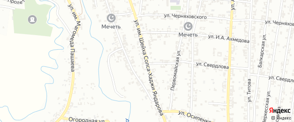 Улица им.Шейха Солса-Хаджи Яндарова на карте Урус-мартана с номерами домов