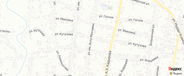 Улица Кутузова на карте Урус-мартана с номерами домов