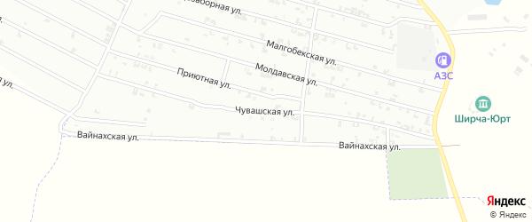 Чувашская улица на карте Урус-мартана с номерами домов