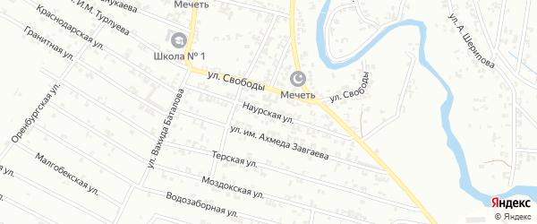 Наурская улица на карте Урус-мартана с номерами домов