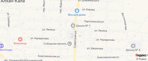 Улица Ленина на карте села Алхан-Кала с номерами домов