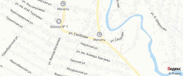 Улица Свободы на карте Урус-мартана с номерами домов