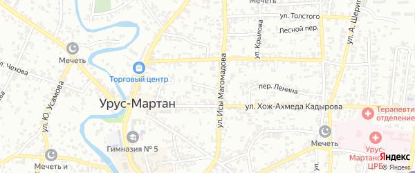 Переулок Буденного на карте Грозного с номерами домов