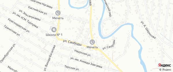 Улица Каланчакский 2-й на карте Урус-мартана с номерами домов