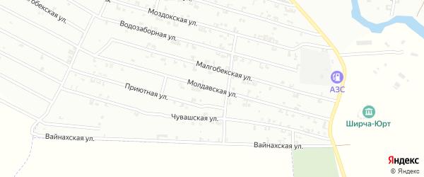 Молдавская улица на карте Урус-мартана с номерами домов