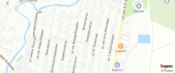 Приморская улица на карте Урус-мартана с номерами домов