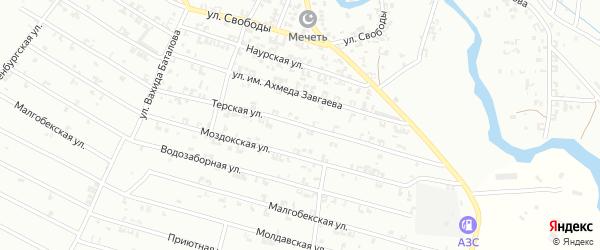 Терская улица на карте Урус-мартана с номерами домов