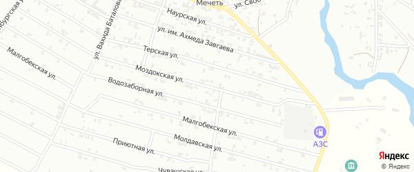 Моздокская улица на карте Урус-мартана с номерами домов