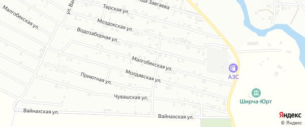 Малгобекская улица на карте Урус-мартана с номерами домов