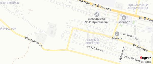 Котельный переулок на карте Грозного с номерами домов
