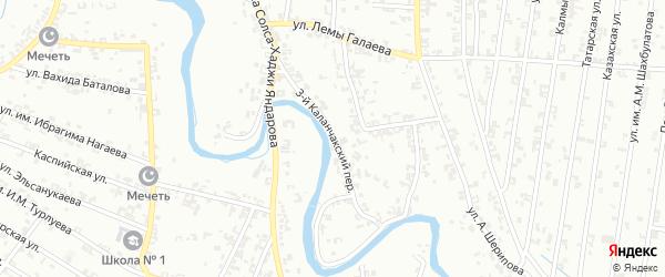 Улица Каланчакский 3-й на карте Урус-мартана с номерами домов