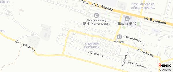 Больничная улица на карте Грозного с номерами домов