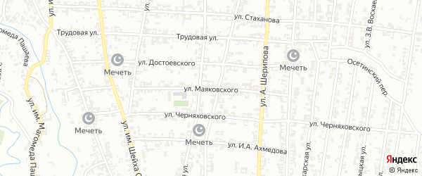 Улица Маяковского на карте Урус-мартана с номерами домов