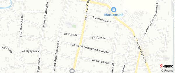 Улица Гоголя на карте Урус-мартана с номерами домов