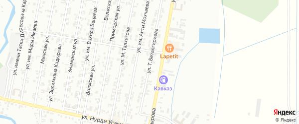 Волгоградская улица на карте села Гой-чу с номерами домов