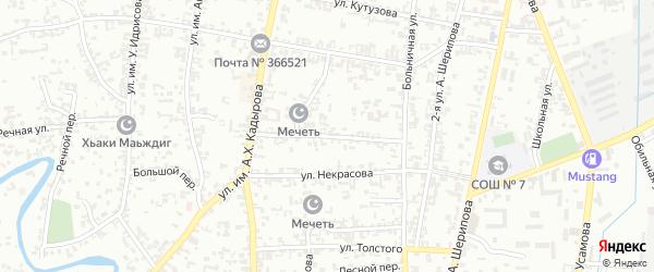 Улица Островского на карте Урус-мартана с номерами домов