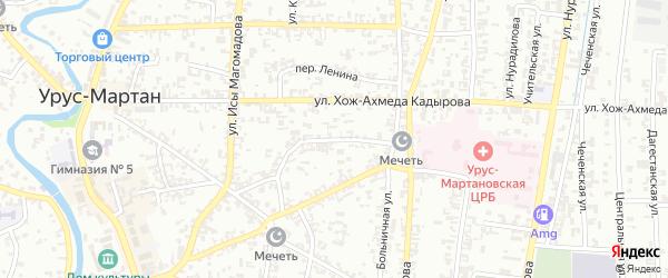 Авиационная улица на карте Урус-мартана с номерами домов