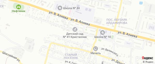 Улица Маяковского на карте Грозного с номерами домов