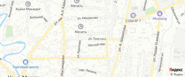 Улица Толстого на карте Урус-мартана с номерами домов