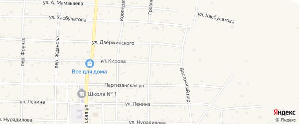 Грозненский переулок на карте Грозного с номерами домов