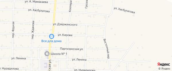 Грозненский переулок на карте села Алхан-Кала с номерами домов
