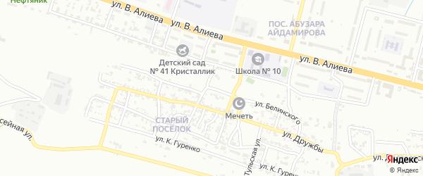 Улица им Белинского на карте Грозного с номерами домов