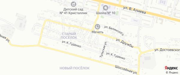 Красный переулок на карте Грозного с номерами домов