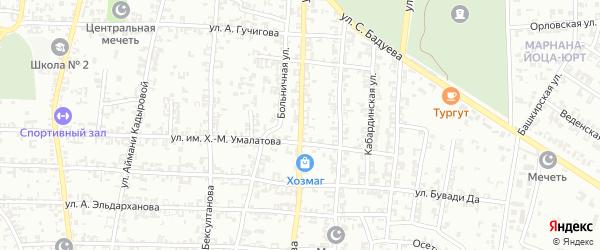 Улица А.Туликова на карте Урус-мартана с номерами домов