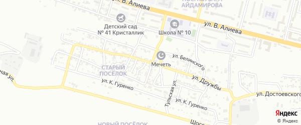 Улица Дружбы на карте Грозного с номерами домов