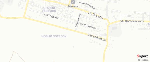 Шоссейная улица на карте Грозного с номерами домов
