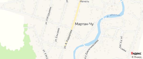 Улица С-Х.Яндарова на карте села Танги-Чу с номерами домов