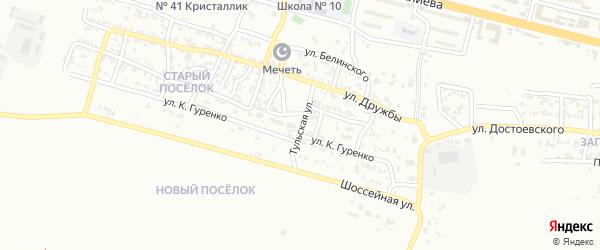 Базарная улица на карте Грозного с номерами домов