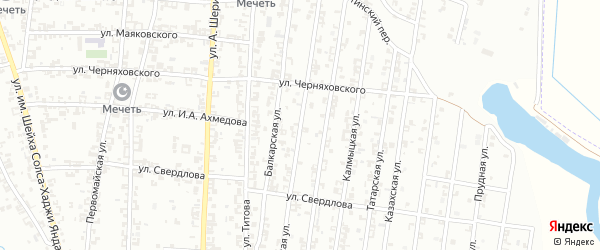 Черкесская улица на карте Урус-мартана с номерами домов