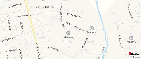 Улица Ломоносова на карте села Алхан-Юрт с номерами домов