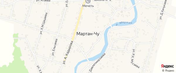 Улица Э.Мовлаева на карте села Мартан-Чу с номерами домов