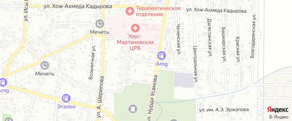 Надречная улица на карте Урус-мартана с номерами домов
