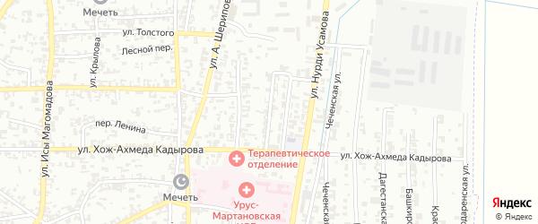 Улица Х.Нурадилова на карте Урус-мартана с номерами домов