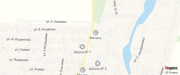 Улица А.А.Кадырова на карте села Мартан-Чу с номерами домов