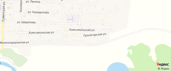 Пролетарская улица на карте Грозного с номерами домов