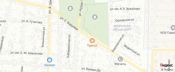 Улица С.Бадуева на карте Урус-мартана с номерами домов