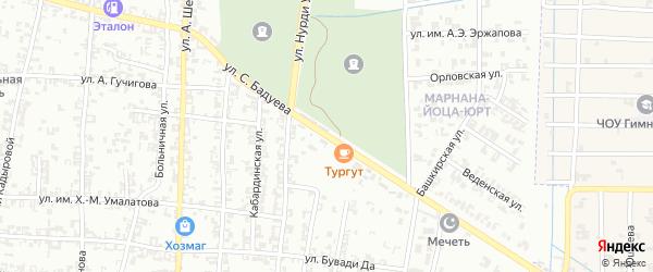 Улица С.С. Даутмерзаева на карте Урус-мартана с номерами домов