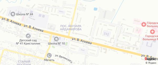 Переулок Маяковского на карте Грозного с номерами домов