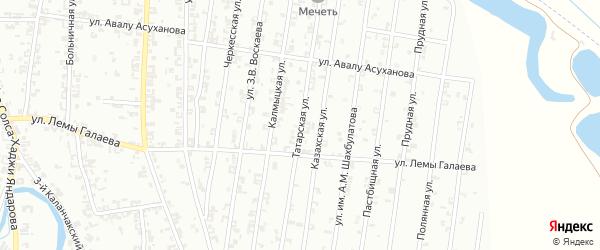 Татарская улица на карте Урус-мартана с номерами домов