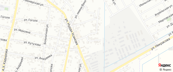 Цветочная улица на карте Урус-мартана с номерами домов