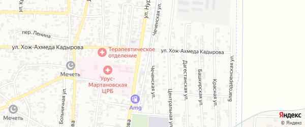 Чеченская улица на карте Урус-мартана с номерами домов