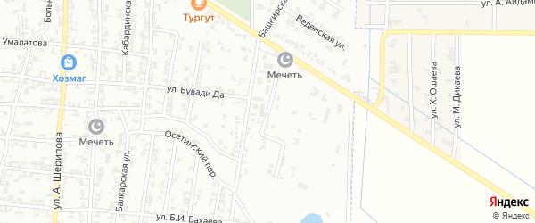 Переулок Бадуева на карте Урус-мартана с номерами домов