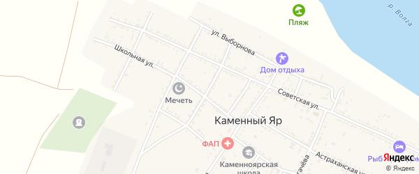Улица М.Джалиля на карте села Каменного Яра с номерами домов