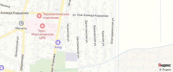 Дагестанская улица на карте Урус-мартана с номерами домов