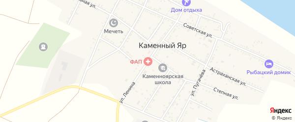 Улица Ленина на карте села Каменного Яра с номерами домов