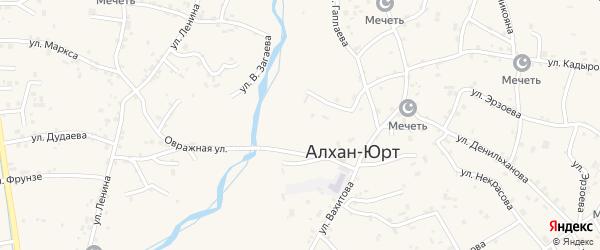 Улица Э.Ханкурханова на карте села Алхан-Юрт с номерами домов
